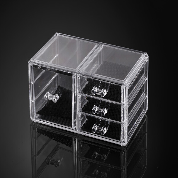 Acrylic Lucite Clear Cube Makeup
