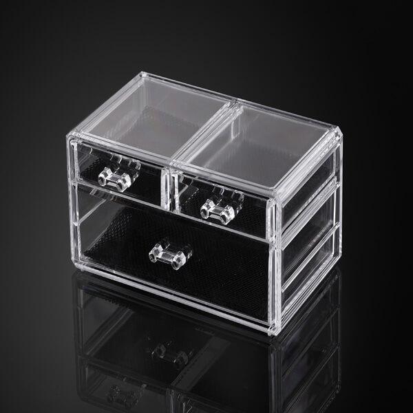 Acrylic Clear Cube Makeup Organizer
